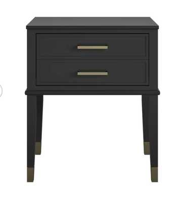 Westerleigh 1 Drawer Nightstand, Black - Est. Back in Stock 3/31/21 - Wayfair