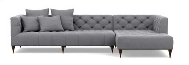 """MS. CHESTERFIELD Sectional Sofa with Right Chaise QUICK SHIP 110"""" x 73"""" - Interior Define"""
