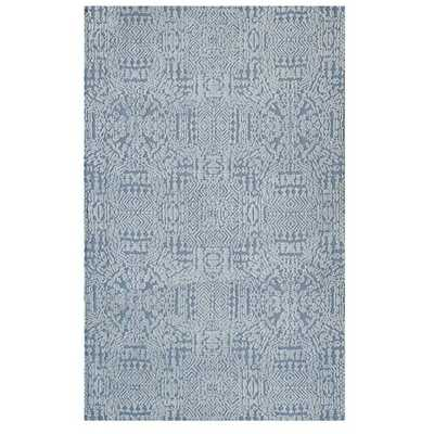 JAVIERA CONTEMPORARY MOROCCAN 8X10 AREA RUG IN IVORY AND LIGHT BLUE - Modway Furniture
