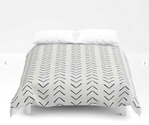 Mud Cloth Big Arrows in Cream Comforters - Society6
