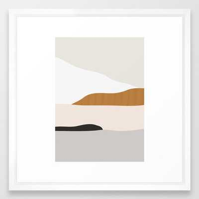 Minimal Art Landscape 2 Framed Art Print - Society6