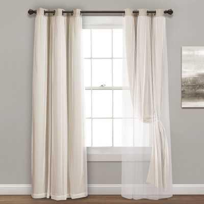 "Busselton Solid Blackout Thermal Grommet Curtain Panels - 38"" x 63"" - Wayfair"
