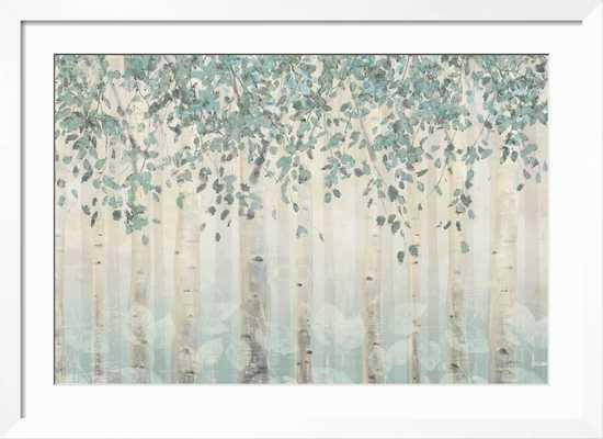 "Dream Forest I Silver Leaves / Neuhaus White Frame / 43.5"" x 31.5"" - art.com"
