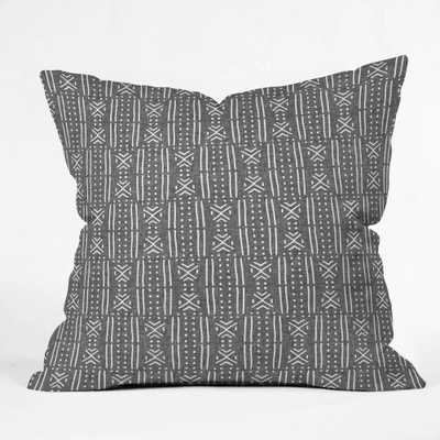 MUDCLOTH LINEN Throw Pillow Cover - 18x18 - Wander Print Co.