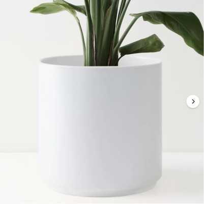 Peach & Pebble 10 Inch Modern Ceramic Planter, white - Wayfair