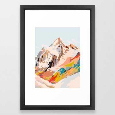 Glass Mountains - Vector Black - Society6