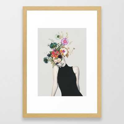 """Floral beauty Framed Art Print - Small - 15"""" X 21"""" - Conservation Natural - Society6"""