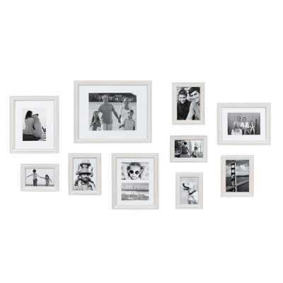 10 Piece Sturminster Gallery Picture Frame Set / White - Wayfair