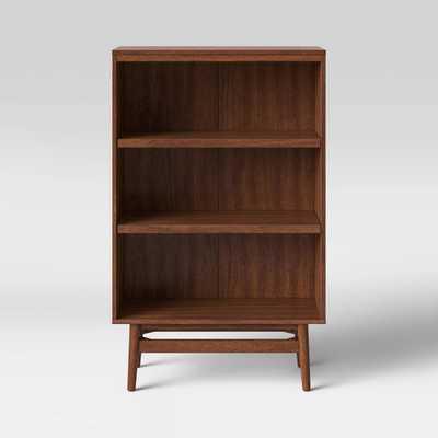 Ellwood 3 Shelf Mid Century Modern Wood Bookcase Brown - Project 62™ - Target
