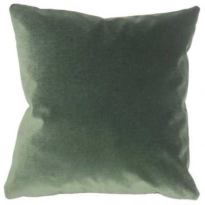 """Wish Holiday Pillow Green - 20""""x20"""" - With Poly Insert - Linen & Seam"""