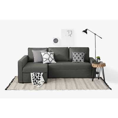 Live-it Cozy 2-Piece Charcoal Gray Sectional - Home Depot