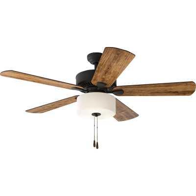 """52"""" Sina 5 Blade Ceiling Fan, Light Kit Included - Wayfair"""