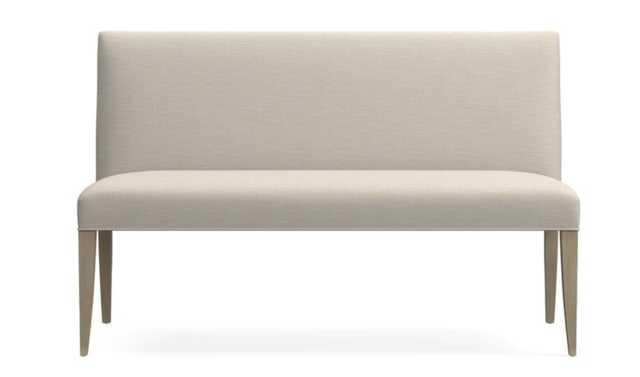 """Miles 58"""" Medium Upholstered Dining Banquette Bench - Crate and Barrel"""