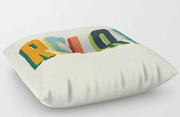 Relax Floor Pillow, square - Society6