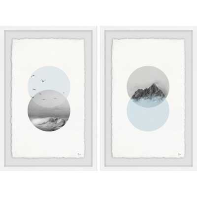 'Waves and Branches Diptych' 2 Piece Framed Graphic Art Print Set - Wayfair