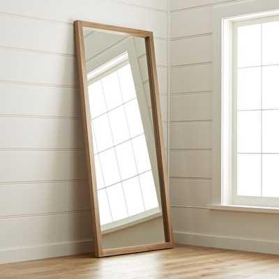 Linea II Natural Floor Mirror - Crate and Barrel