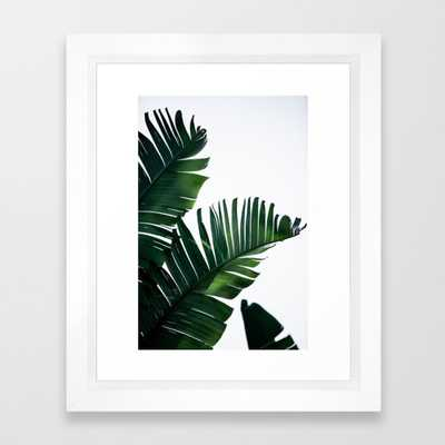 Palm Leaves 16 Framed Art Print by Maboe - Society6