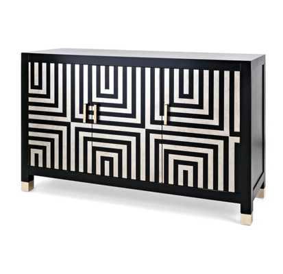 Klein 3 Door Accent Cabinet - Wayfair