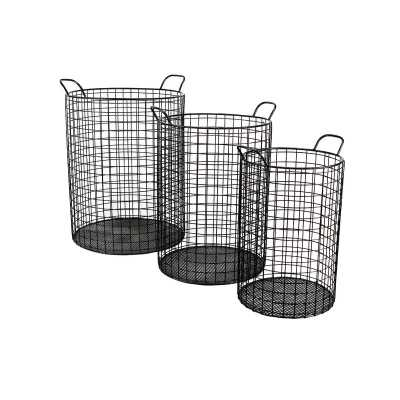 Emington Tall Cylinder Wire Bins Basket - AllModern