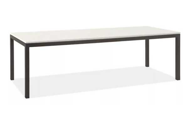 Portica 96w 34d 29h Table, white quartz - Room & Board
