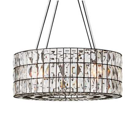 Adeline Faceted Crystal Round Chandelier, Bronze finish - Pottery Barn