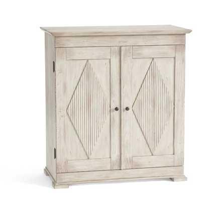 Ingred Bar Cabinet, Warm White - Pottery Barn