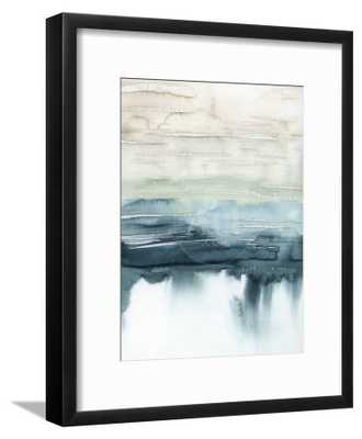 "Organic Cascade I - Chelsea Black - 12"" x 16"" - Bright white mat - Acrylic: Clear - - art.com"