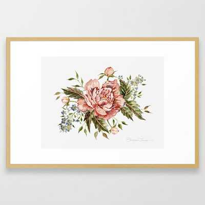Pink Wild Rose Bouquet Framed Art Print - Society6
