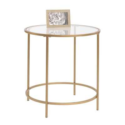Deford End Table / Gold - AllModern