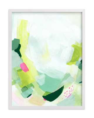 Playful with white wood frame - Minted