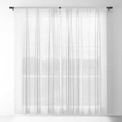 White Days Sheer Curtain Set of 2 - Society6
