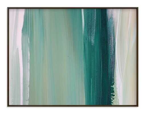 "Emerald blades // Matte black .5"" Art Print Frame // Art Print - 54"" x 40"" - Minted"