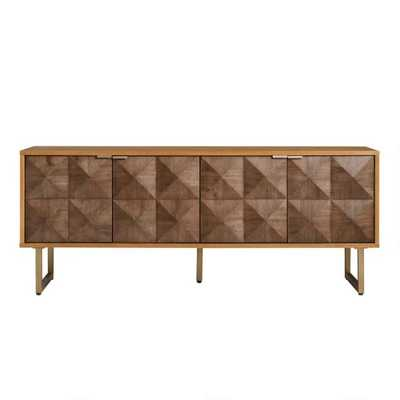 Two Tone Wood Diamond Rouvin Media Cabinet - World Market/Cost Plus