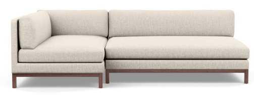 JASPER Short Left Chaise Sectional Sofa - Wheat - Interior Define