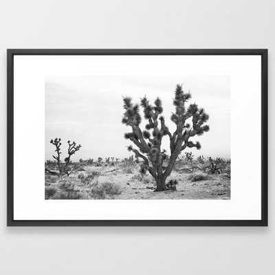 joshua tree bw Framed Art Print - Society6