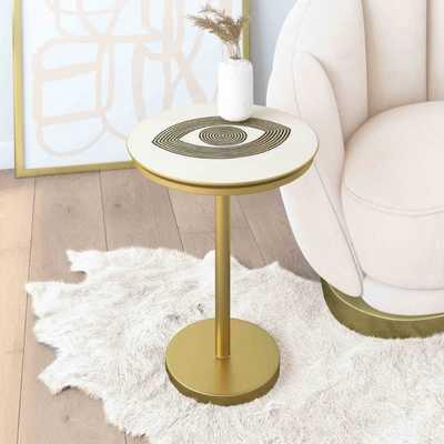 Eye Handpainted Side Table - Maren Home