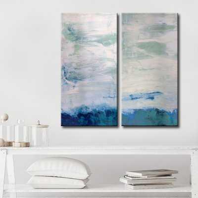 'Abstract' 2 Piece Graphic Art on Canvas Set - Wayfair
