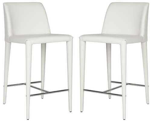 Garretson Counter Stool - White/Chrome - Arlo Home - Arlo Home