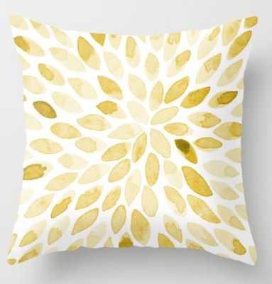 Watercolor brush strokes - yellow Throw Pillow - Society6
