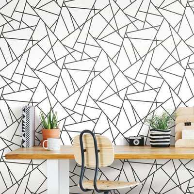"Fannie Fracture 20.5' L x 16.5"" W Peel and Stick Wallpaper Roll - Wayfair"