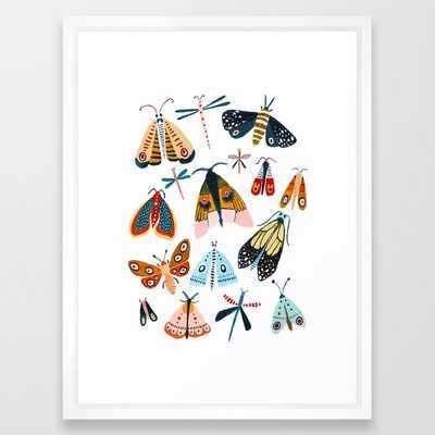 Moth Species Framed Art Print - Society6