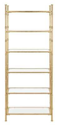 Arden 6 Tier Etagere - Gold/Clear - Arlo Home - Arlo Home
