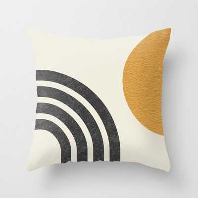 Mid century modern Sun & Rainbow Throw Pillow - Society6