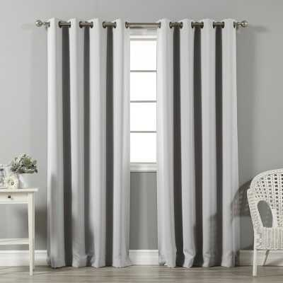 Solid Blackout Thermal Grommet 2 Curtains / Drapes (Set of 2) - Wayfair