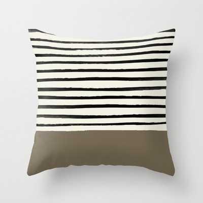 Cappuccino x Stripes Throw Pillow - Society6