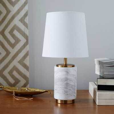 Pillar Table Lamp Small, Marble Base, Set of 2 - West Elm