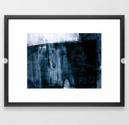 Indigo Blue and White Minimalist Abstract Painting Framed Art Print - Society6