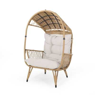 Molly Outdoor Standing Basket Chair with Cushion Molly Outdoor Wicker Standing Patio Chair with Cushion - Wayfair