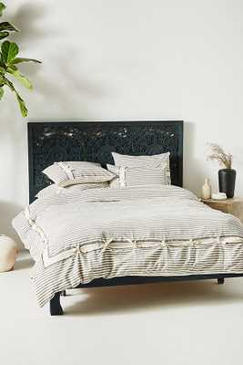 Woven Carter Stripe Duvet Cover - Anthropologie