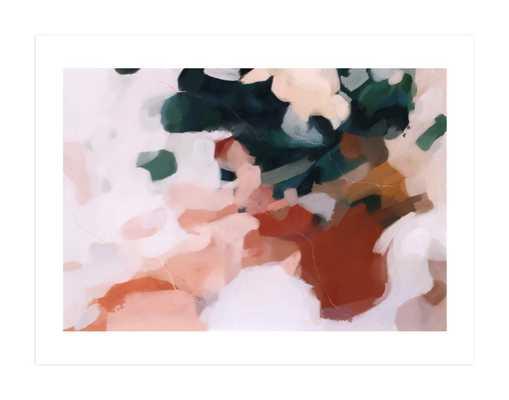 "Otonio Wall Art Print Burnt Umber  /  40"" X 30"" (No Frame) White Border - Minted"